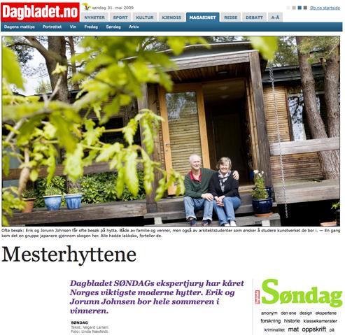 """""""Mesterhyttene"""" - klippet fra Dagbladet.no"""