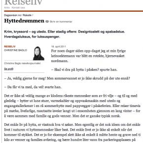 """""""Hyttedrømmen"""" i Dagsavisen, 16.04.2011"""