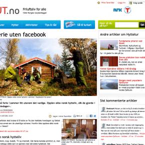 """Ferie uten Facebook,"" UT.no, 15. juli 2011"