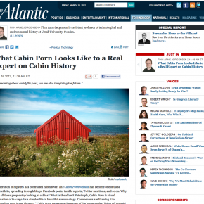 "Om ""hytteporno"" i The Atlantic"