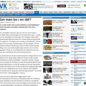 """""""Kan man bo i en idé?"""", Västerbottens-Kuriren, 16.08.2012"""