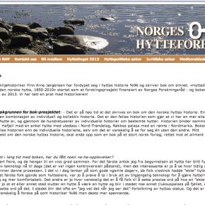 Intervju i medlemsbladet til Hytteforbundet